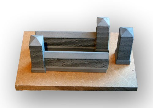 Brick Boundary Wall Set