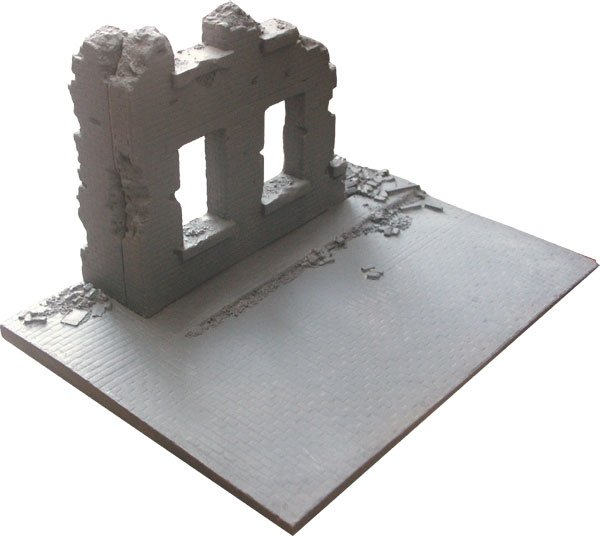 Corner House Ruin Diorama