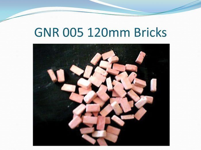 120mm Bricks (plaster)